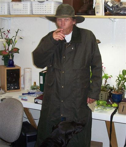 Lee in Filson Hat and Duster